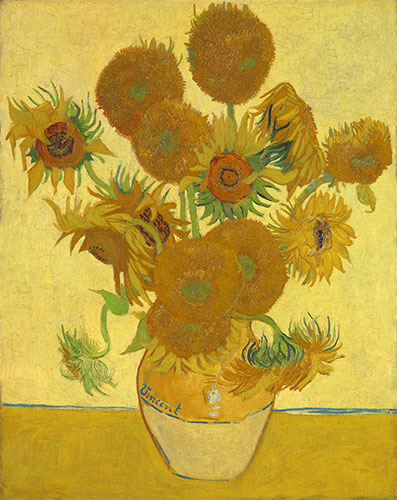 Still Life: Vase with Fourteen Sunflowers, 1888   Vincent van Gogh   Painting Reproduction