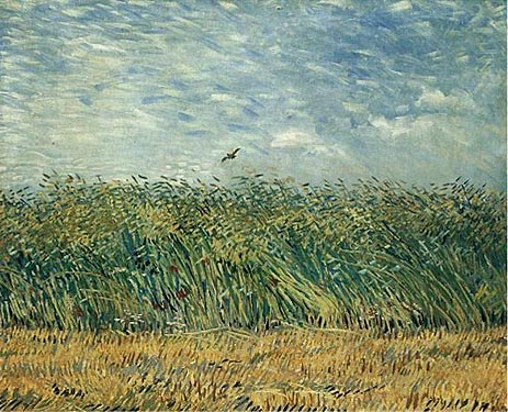 Wheat Field with a Lark, 1887 | Vincent van Gogh | Painting Reproduction