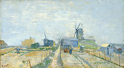 Vegetable Gardens in Montmartre, 1887 | Vincent van Gogh | Painting Reproduction