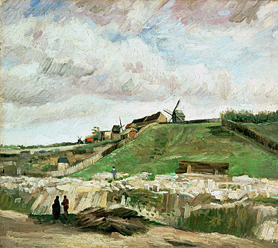 The Hill of Montmartre with Stone Quarry, 1886 | Vincent van Gogh | Painting Reproduction