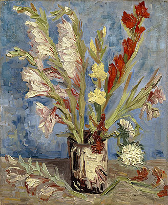 Vase with Gladioli, 1886 | Vincent van Gogh | Painting Reproduction
