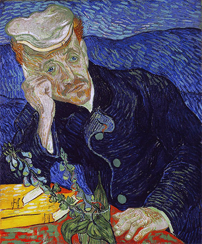 Portrait of Doctor Paul Gachet, 1890 | Vincent van Gogh | Painting Reproduction