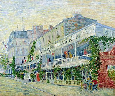 Restaurant de la Sirene at Asnieres, 1887 | Vincent van Gogh | Painting Reproduction