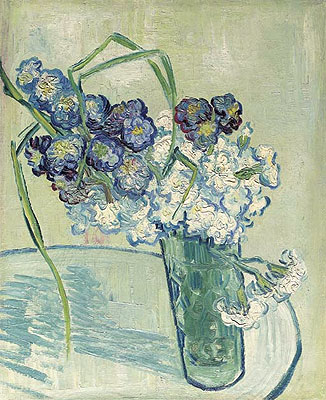Carnations in a Vase. Auvers, 1890 | Vincent van Gogh | Painting Reproduction