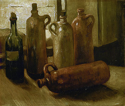 Still Life with Bottles, 1884 | Vincent van Gogh | Painting Reproduction