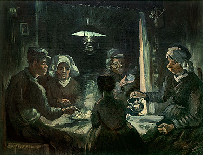 The Potatoes-Eater, 1885 | Vincent van Gogh | Painting Reproduction