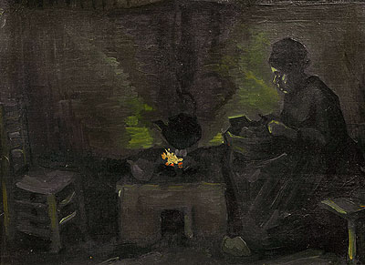 Peasant Woman by the Hearth, c.1885 | Vincent van Gogh | Painting Reproduction