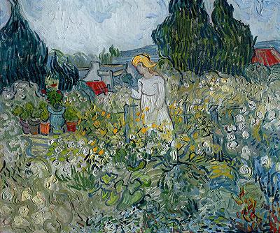 Marguerite Gachet in the Garden at Auvers-sur-Oise, 1890 | Vincent van Gogh | Painting Reproduction