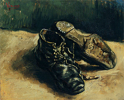 A Pair of Shoes, 1886 | Vincent van Gogh | Painting Reproduction