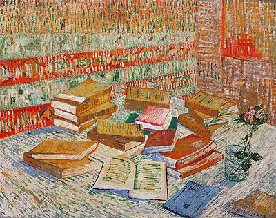 The Yellow Books (Parisian Novels), 1887 | Vincent van Gogh | Painting Reproduction
