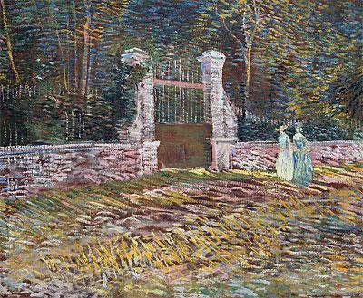 Entrance to the Voyer-d'Argenson Park at Asnieres, 1887 | Vincent van Gogh | Painting Reproduction