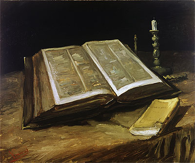 Still Life with Bible, 1885 | Vincent van Gogh | Painting Reproduction