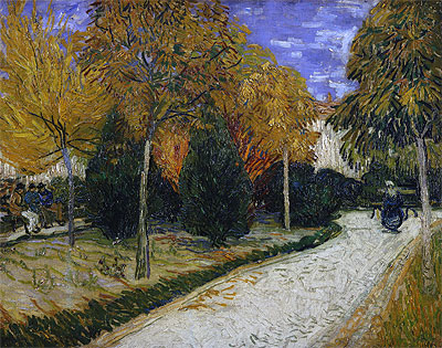 Path in the Park at Arles, 1888 | Vincent van Gogh | Painting Reproduction