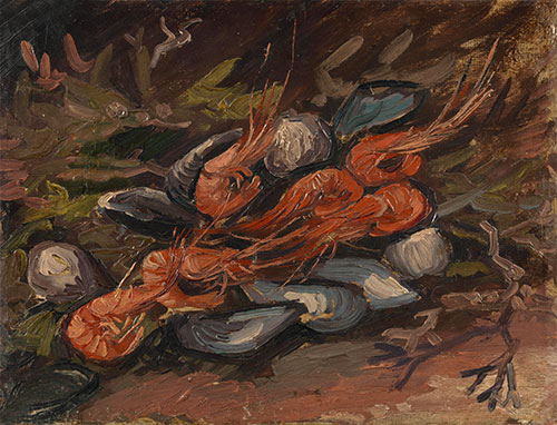 Prawns and Mussels, 1886 | Vincent van Gogh | Painting Reproduction