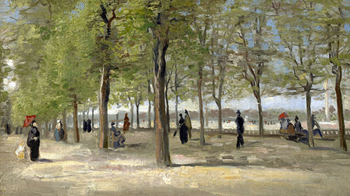 Terrace in the Luxembourg Gardens, 1886   Vincent van Gogh   Painting Reproduction