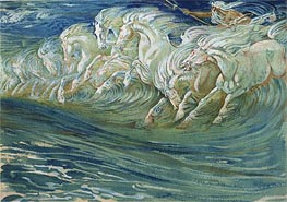 Neptune's Horses, 1910 by Walter Crane | Giclée Paper Print
