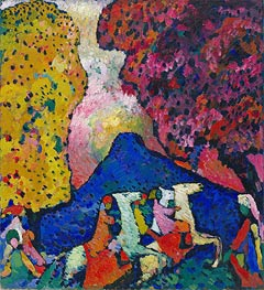 Kandinsky | Blue Mountain | Giclée Canvas Print