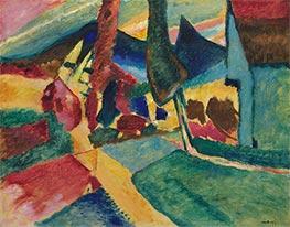 Landscape with Two Poplars, 1912 by Kandinsky | Giclée Canvas Print