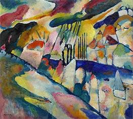 Landscape with Rain, 1913 by Kandinsky   Giclée Canvas Print