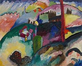 Landscape with Factory Chimney, 1910 by Kandinsky   Giclée Canvas Print