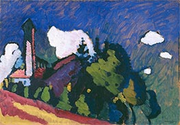 Study for Landscape with Tower, 1908 by Kandinsky   Giclée Canvas Print
