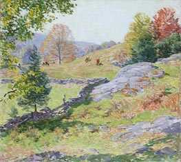 Hillside Pastures - September, 1922 by Willard Metcalf | Giclée Canvas Print