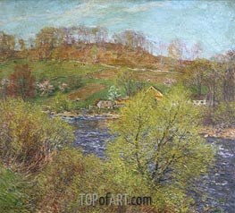 Blossoming Willows, c.1920 by Willard Metcalf | Giclée Canvas Print