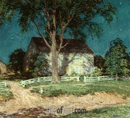 Old Homestead Connecticut, c.1914 by Willard Metcalf | Giclée Canvas Print