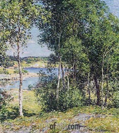 A Family of Birches, 1907 by Willard Metcalf | Giclée Canvas Print