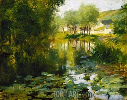 The Lily Pond, 1887 by Willard Metcalf | Giclée Canvas Print