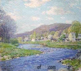 Brook in June, 1919 by Willard Metcalf   Giclée Canvas Print