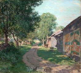 Midsummer Shadows, 1911 by Willard Metcalf | Giclée Canvas Print