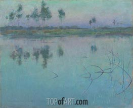 Willard Metcalf | Reflections, Grez-sur-Loing, 1886 | Giclée Canvas Print