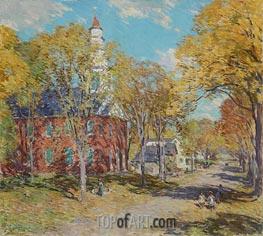 October Morning: Deerfield, Mass, 1917 by Willard Metcalf | Giclée Canvas Print
