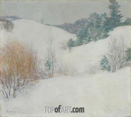 The White Pasture, 1917 by Willard Metcalf | Giclée Canvas Print