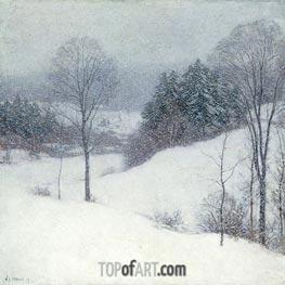 The White Veil, 1909 by Willard Metcalf | Giclée Canvas Print