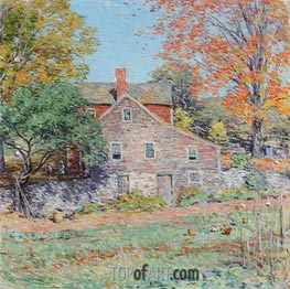 Willard Metcalf | Corner of the Garden, 1920 | Giclée Canvas Print