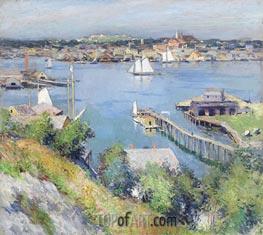 Willard Metcalf | Gloucester Harbor, 1895 | Giclée Canvas Print