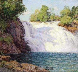 The Waterfall, undated by Willard Metcalf | Giclée Canvas Print