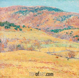 Mountain Pastures - Vermont, 1924 by Willard Metcalf | Giclée Canvas Print