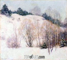 Willows in March, 1911 by Willard Metcalf | Giclée Canvas Print