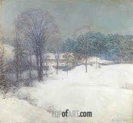 The Enveloping Mantle, 1920 by Willard Metcalf | Giclée Canvas Print