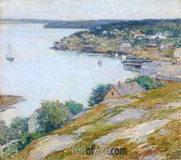 East Boothbay Harbor, Maine, 1904 by Willard Metcalf | Giclée Canvas Print