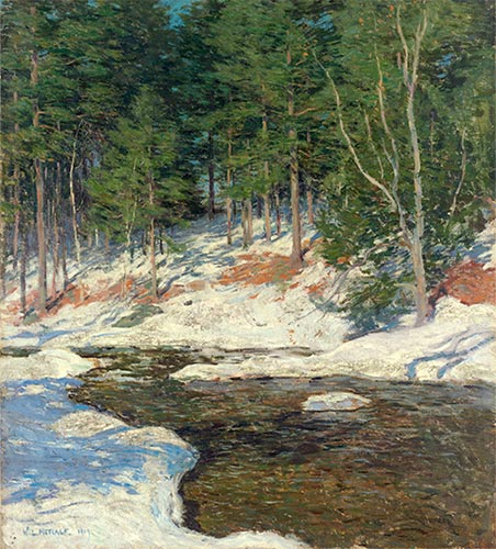 Willard Metcalf | Icebound, 1909 | Giclée Canvas Print