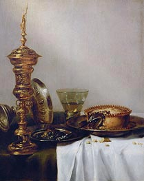Breakfast Still Life with Chalice, 1634 by Claesz Heda | Giclée Canvas Print