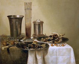 Still Life with Silver Goblets, 1637 by Claesz Heda | Giclée Canvas Print