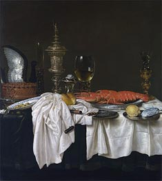 Still Life with a Lobster, c.1650/59 by Claesz Heda | Giclée Canvas Print