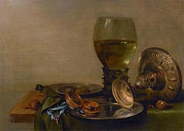 Still Life with Roemer and Silver Tazza, 1630 by Claesz Heda | Giclée Canvas Print