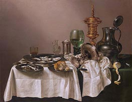Claesz Heda | Still Life with gilt Goblet, 1635 | Giclée Canvas Print