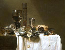 Still Life with Nautilus Cup, 1641 by Claesz Heda | Giclée Canvas Print